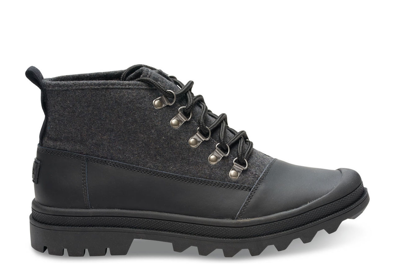 Black on Black Wool Men's Cordova Boot