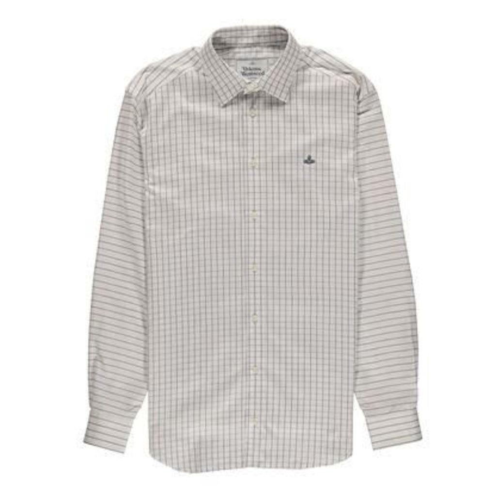 Mens Window Pane Checked Shirt