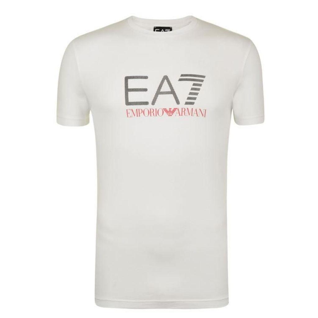 Pattern Print Logo T Shirt