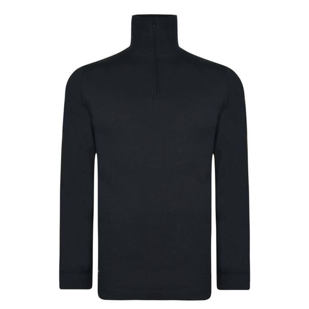 Zip Roll Neck Sweatshirt
