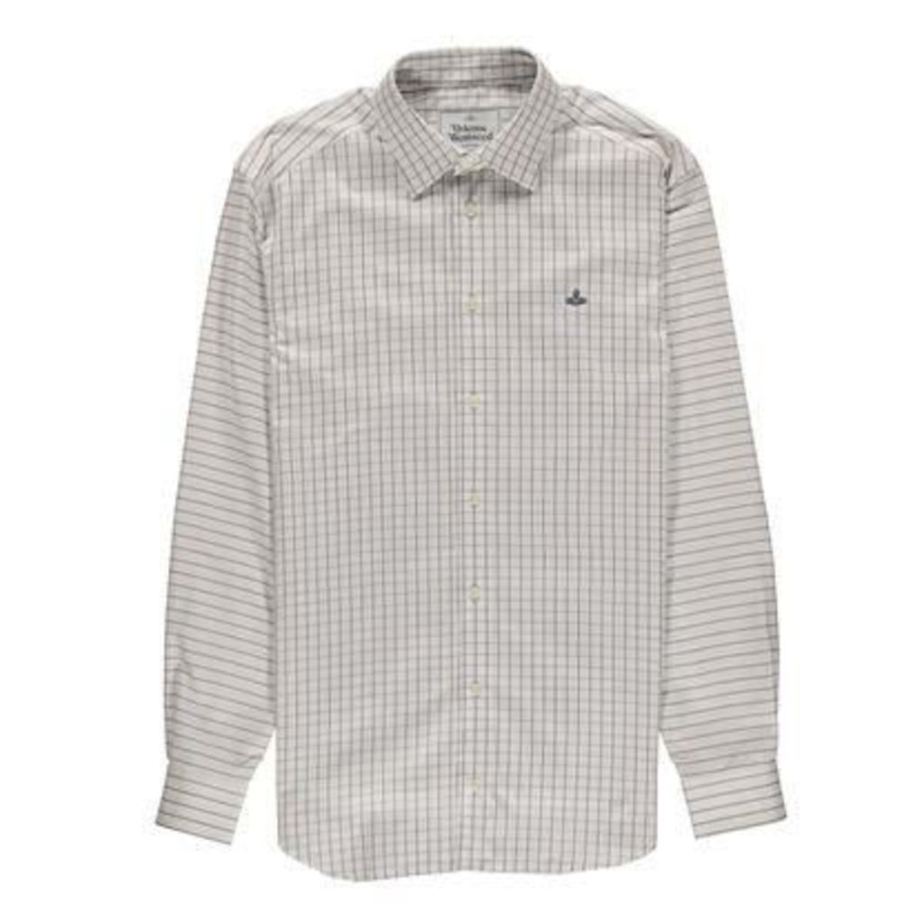 Mens Window Pane Checked Shirt