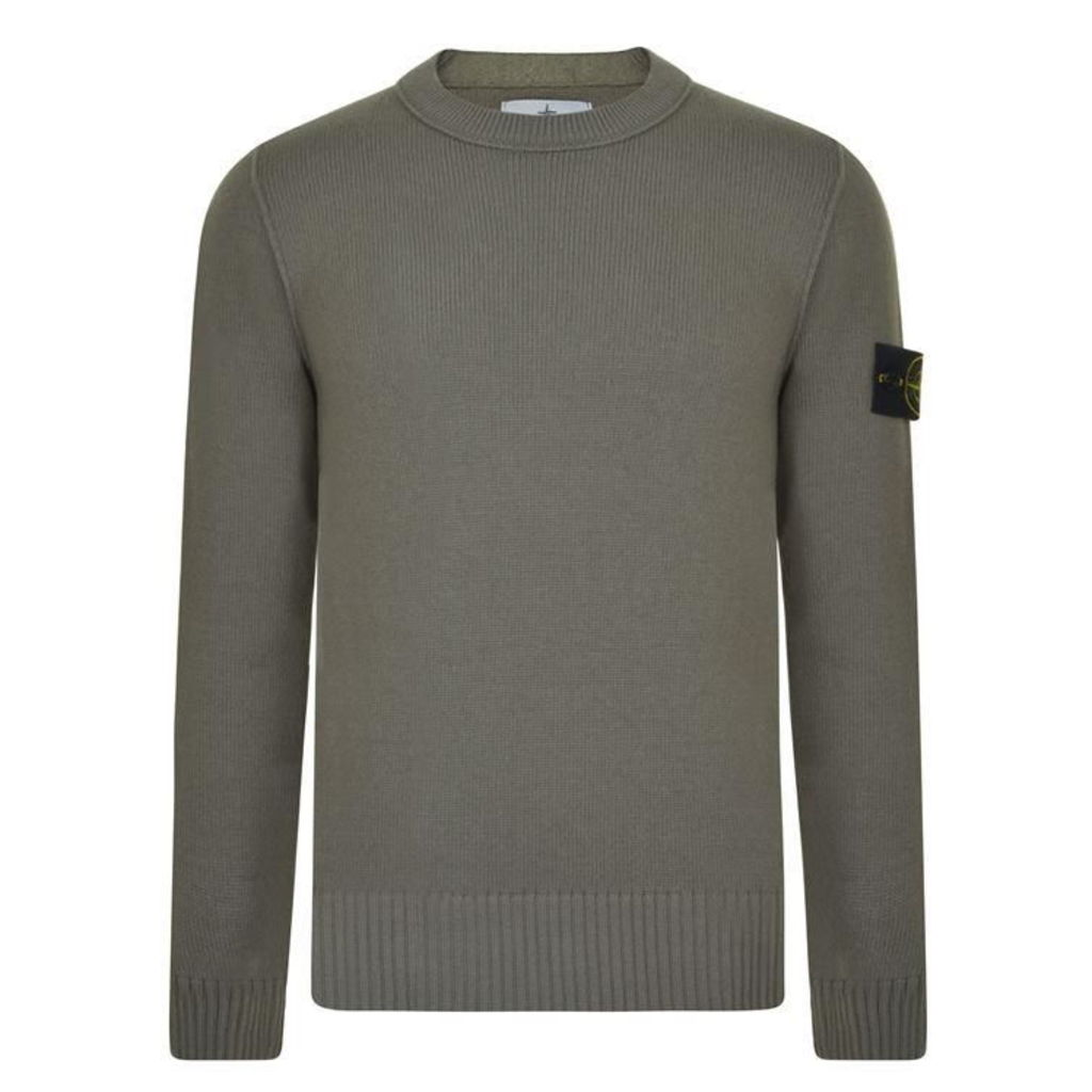 Patch Crew Knit Jumper