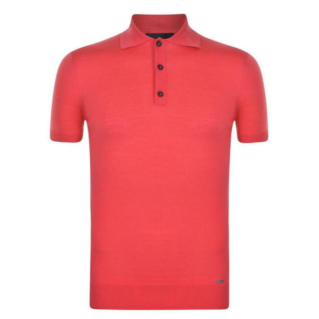 Short Sleeved Knitted Polo Shirt