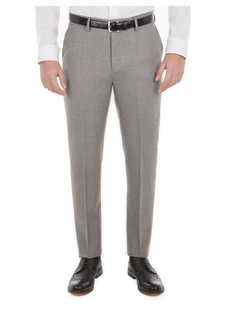 The Flannel Trouser 40L Heritage Grey Marl