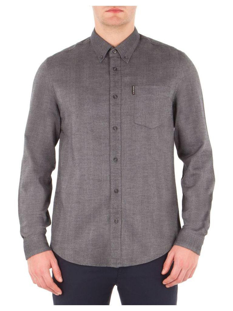 Long Sleeve Brushed Plain Shirt XXL EH3 Chimney Marl