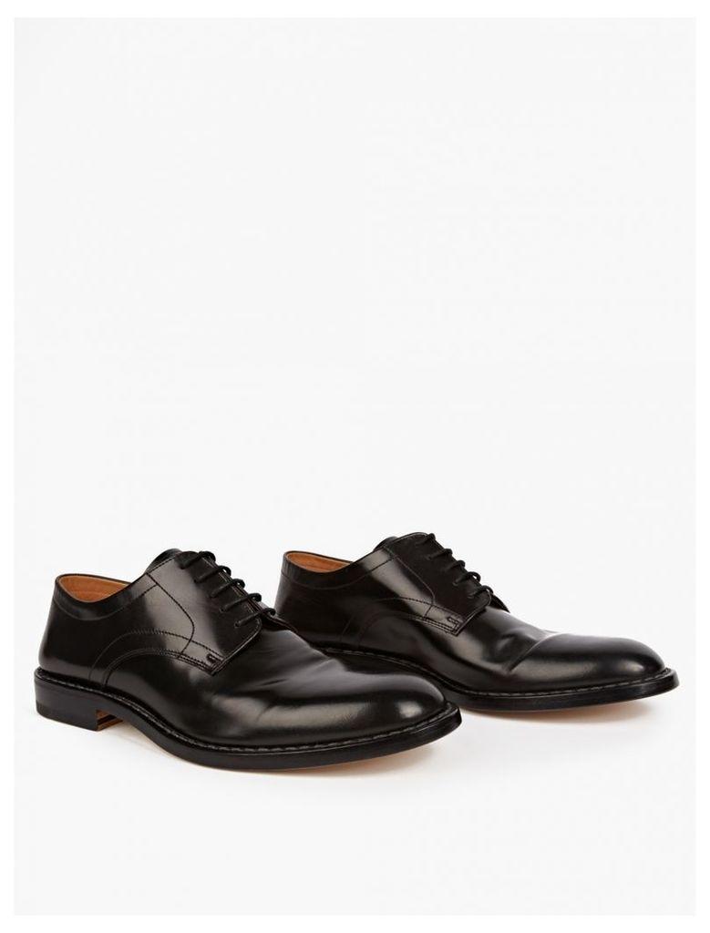 Black Folding-Heel Derby Shoes