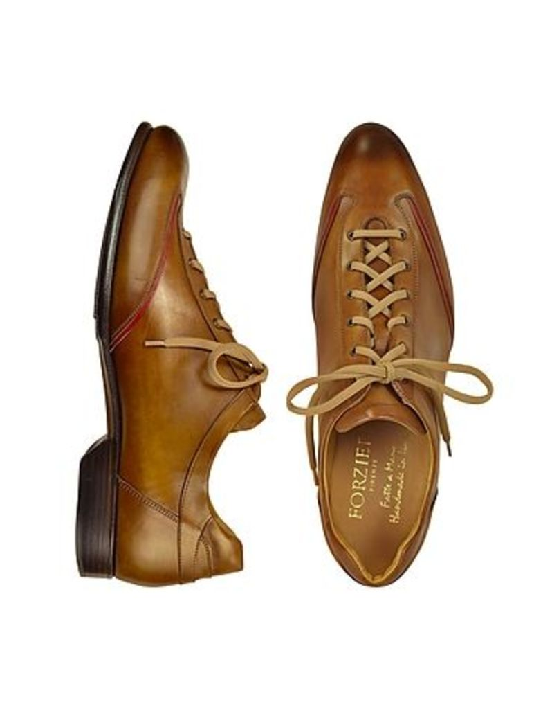 Forzieri - Men's Brown Handmade Italian Leather Lace-up Shoes