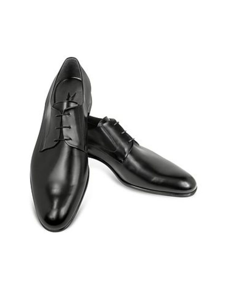 Moreschi - Liverpool Black Leather Derby Shoes