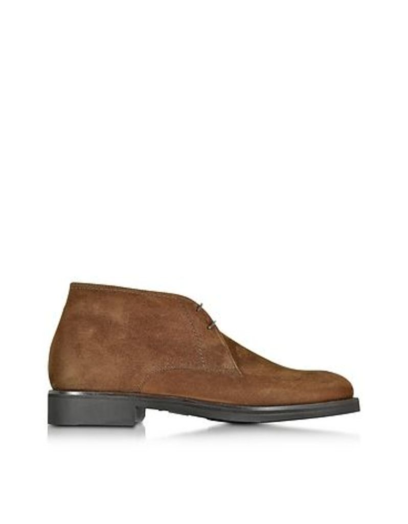 Moreschi - Seattle Brown Suede Ankle Boot w/Rubber Sole