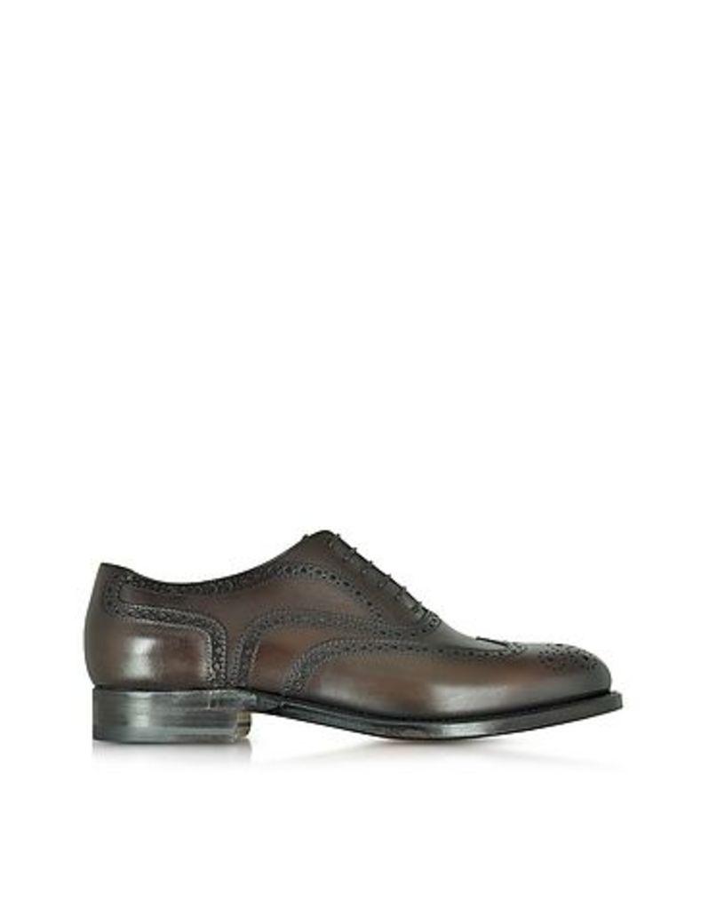 Moreschi - Windsor Dark Brown Leather Wingtip Oxford Shoe