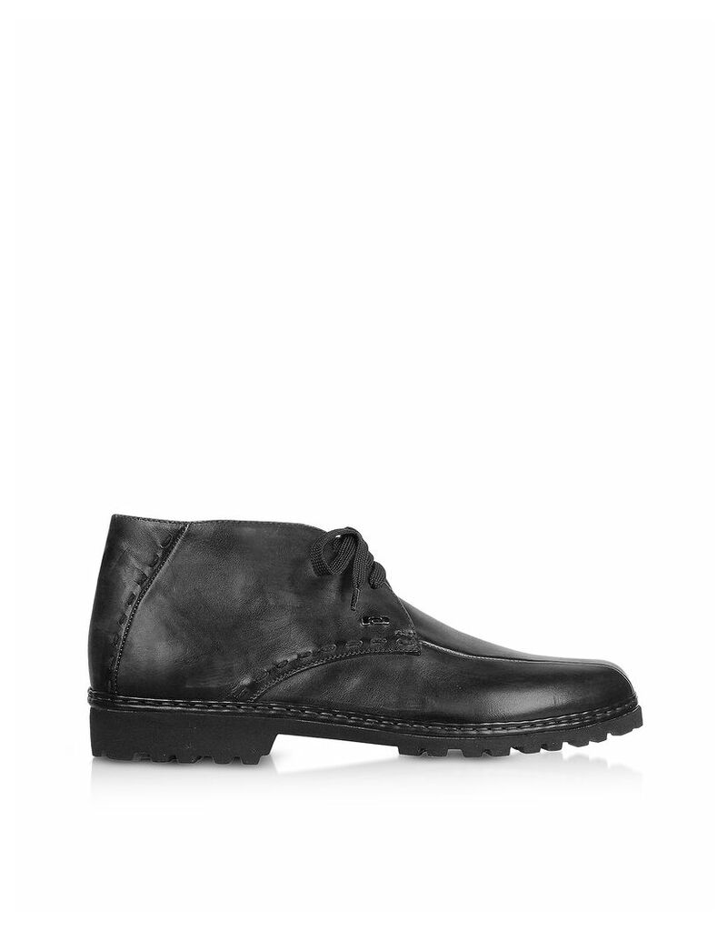 Pakerson - Black Handmade Italian Leather Ankle Boots