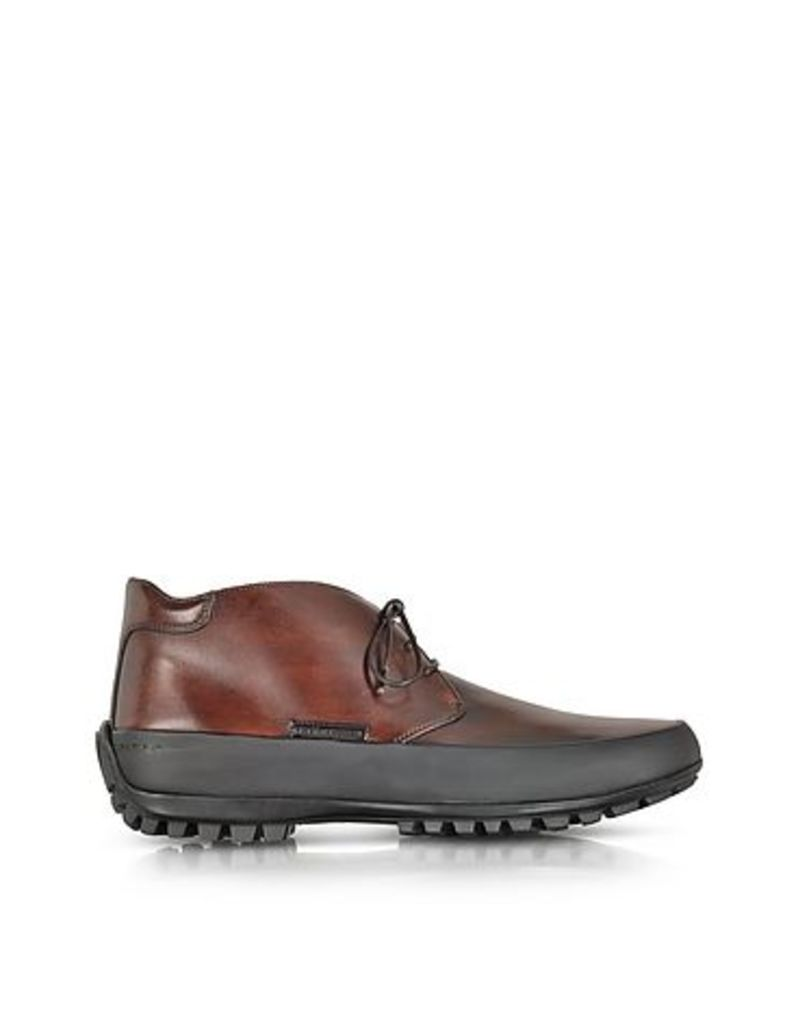 Pakerson - Tan Leather Ankle Boot w/Rubber Sole