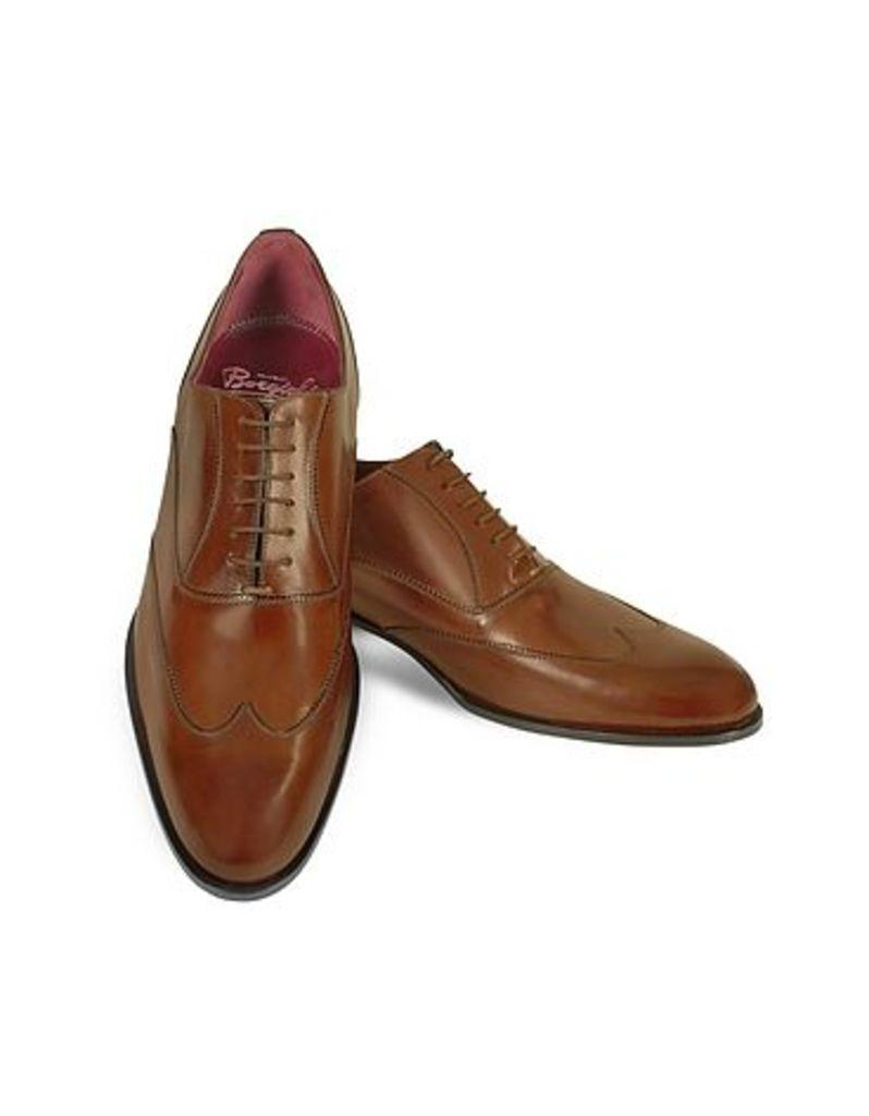 Fratelli Borgioli - Handmade Brown Italian Leather Wingtip Oxford Shoes