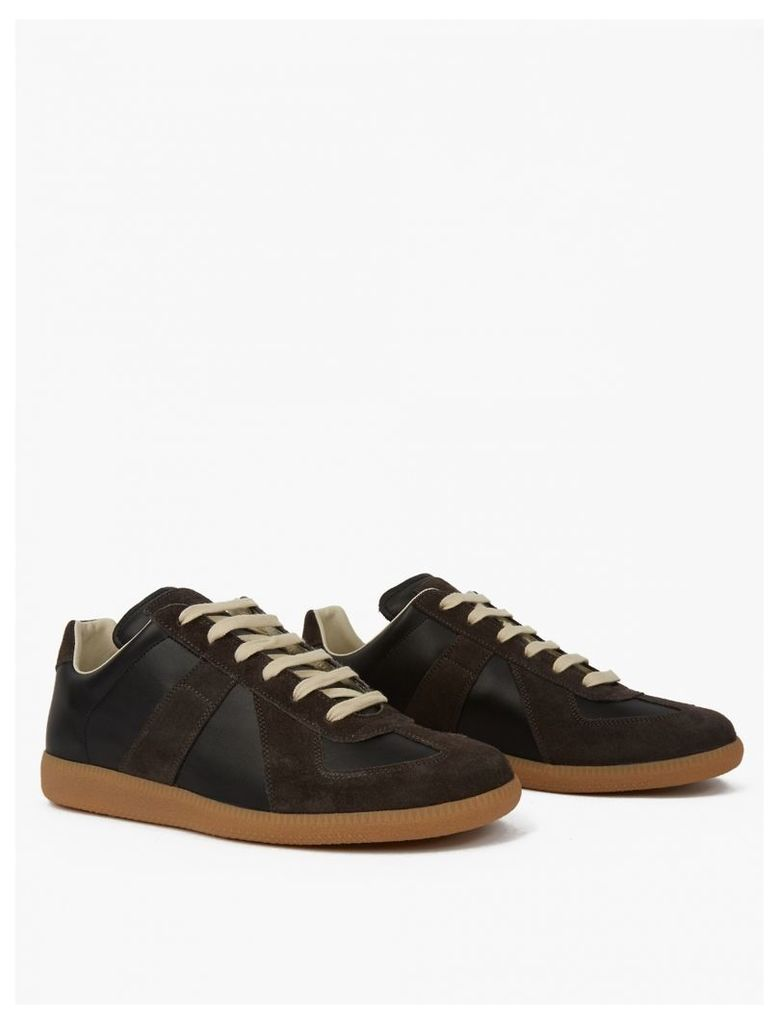 Brown Leather Classic Replica Sneakers