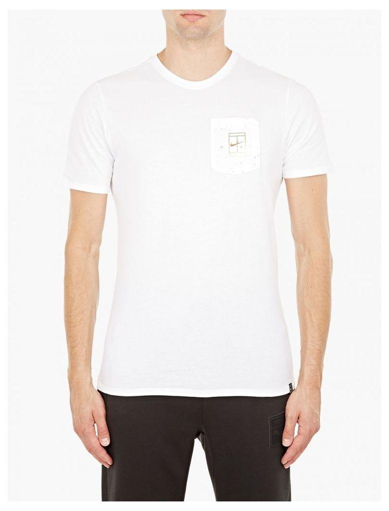 White NikeCourt T-Shirt