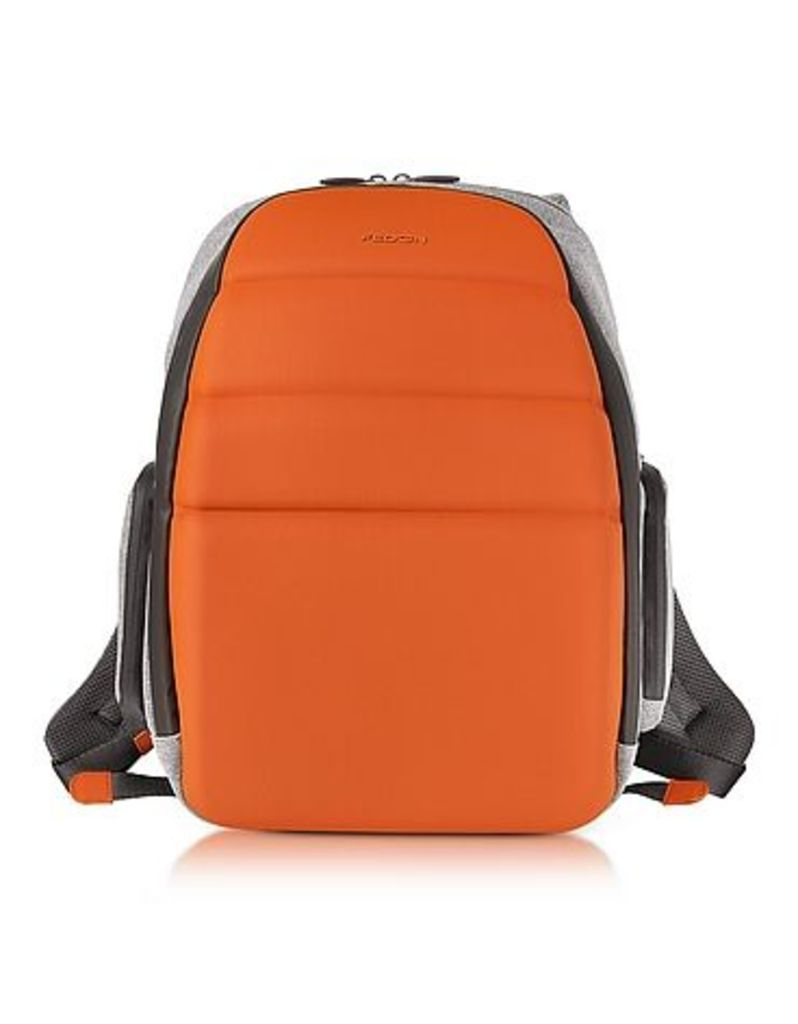 Giorgio Fedon 1919 - Ninja Black Coated Jersey Backpack w/13 Laptop Compartment