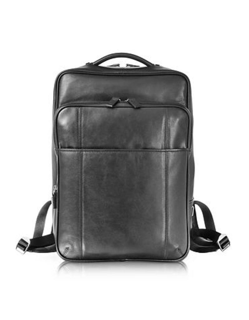 Giorgio Fedon 1919 - British Black Leather Backpack