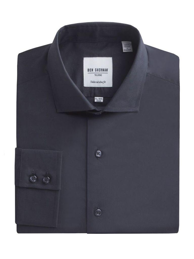 Slim Fit Poplin Shirt 18.5 Jet Black