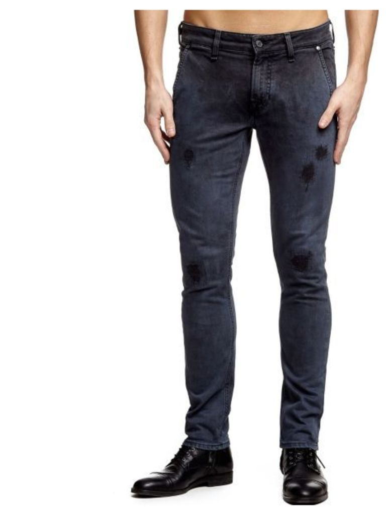 Guess Uneven Dye Superskinny Chino Jeans