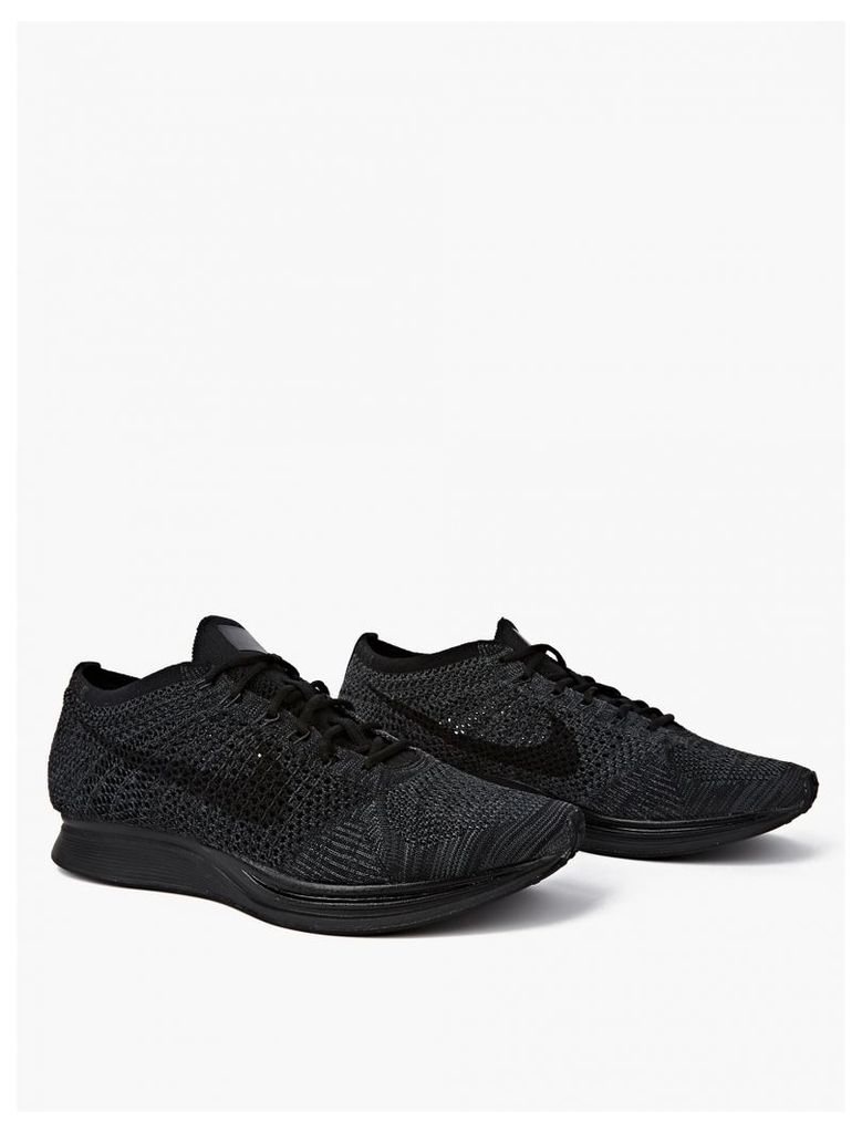 Triple Black Flyknit Racer Sneakers