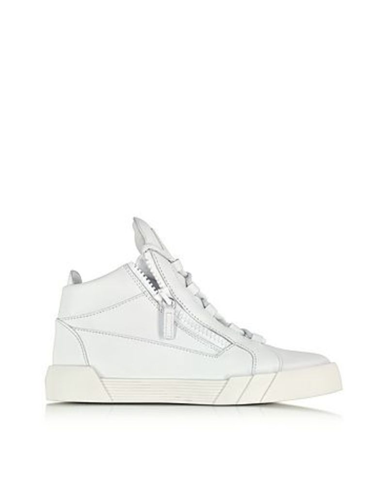 Giuseppe Zanotti - White Leather High Top Sneaker