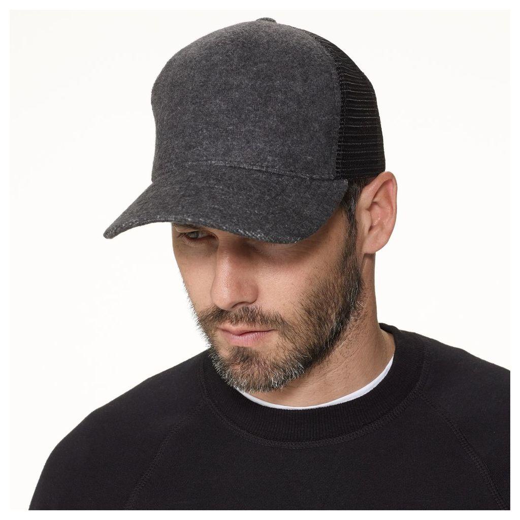 DOUBLE FACE KNIT TRUCKER HAT