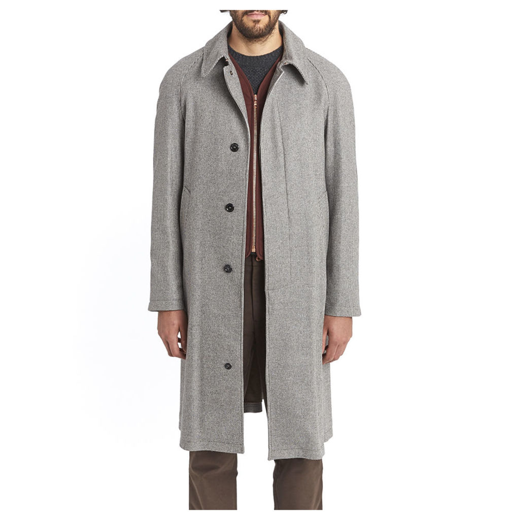 Cashmere Swagger Coat - Puppytooth