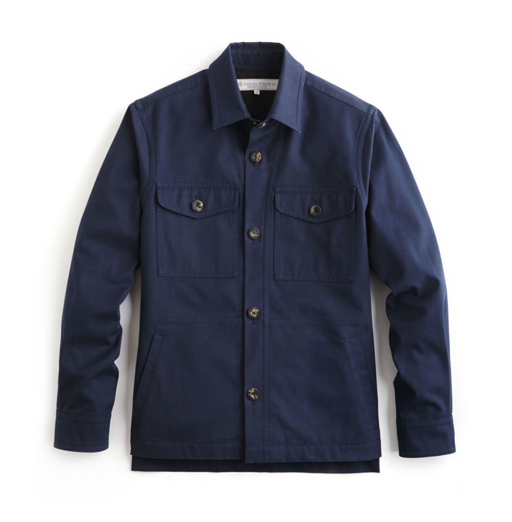 Piccadilly Shacket - Navy Cotton