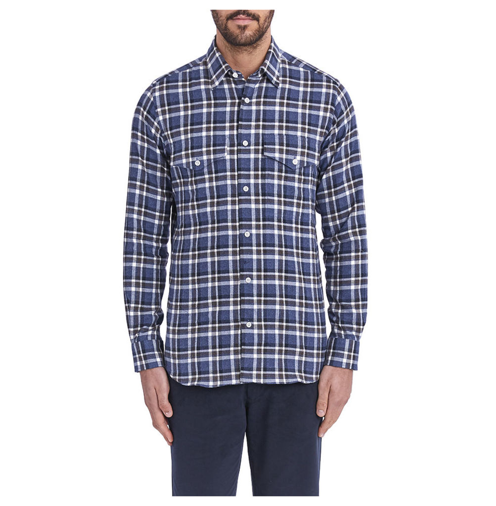 Two Pocket Shirt - Navy Check