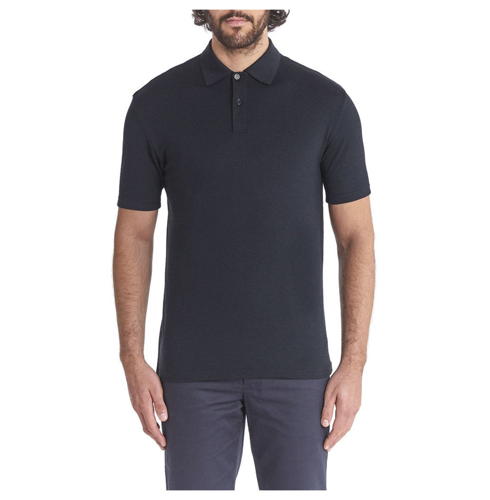 Short Sleeve Merino Polo - Charcoal