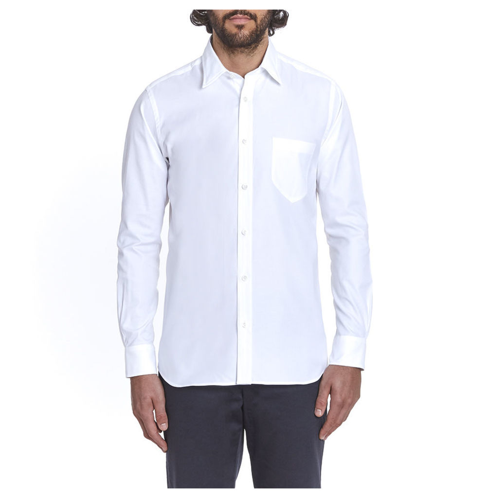 Cooper Plain Collar Shirt - Oxford White