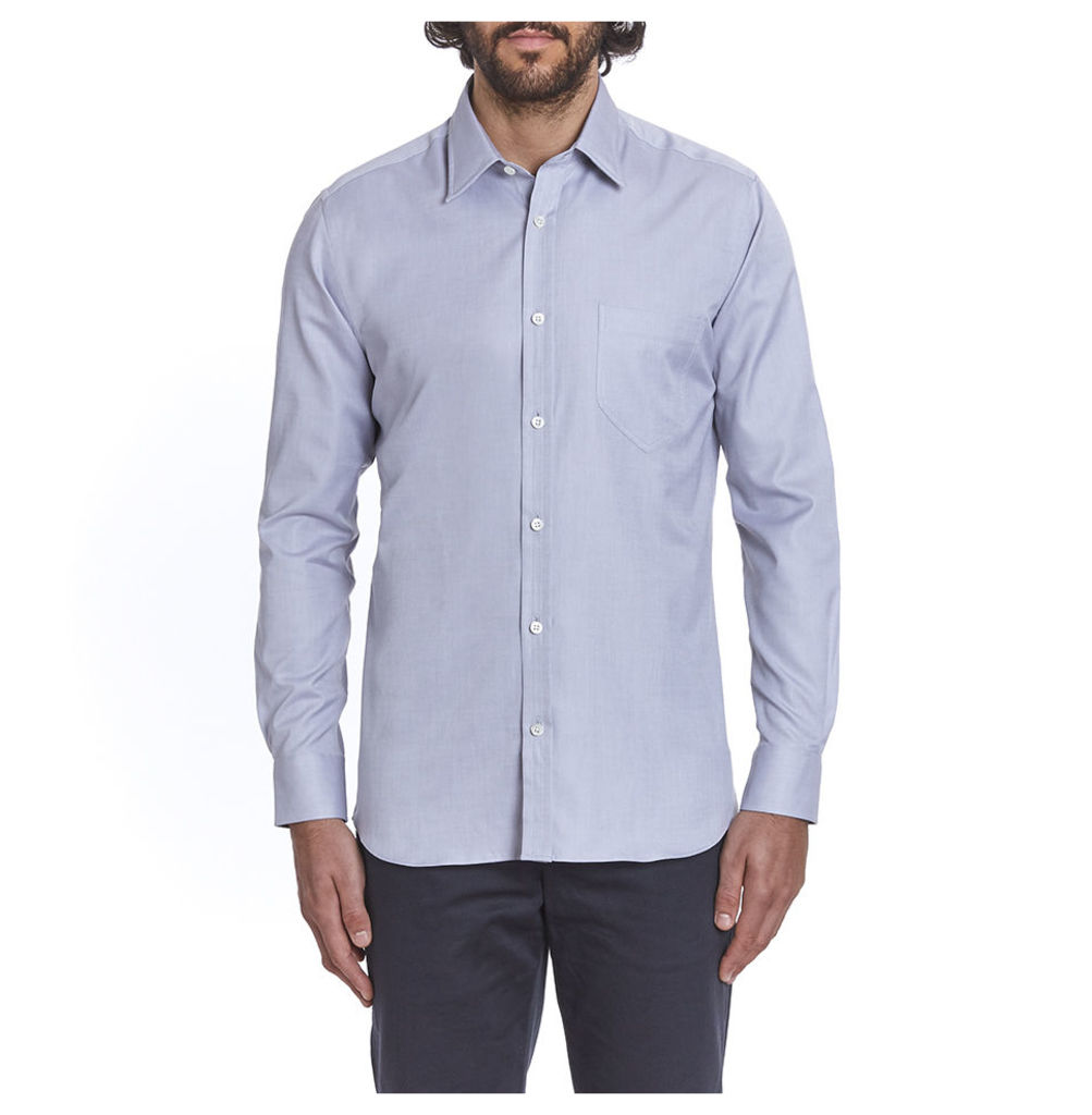 Cooper Plain Collar Shirt - Oxford Grey
