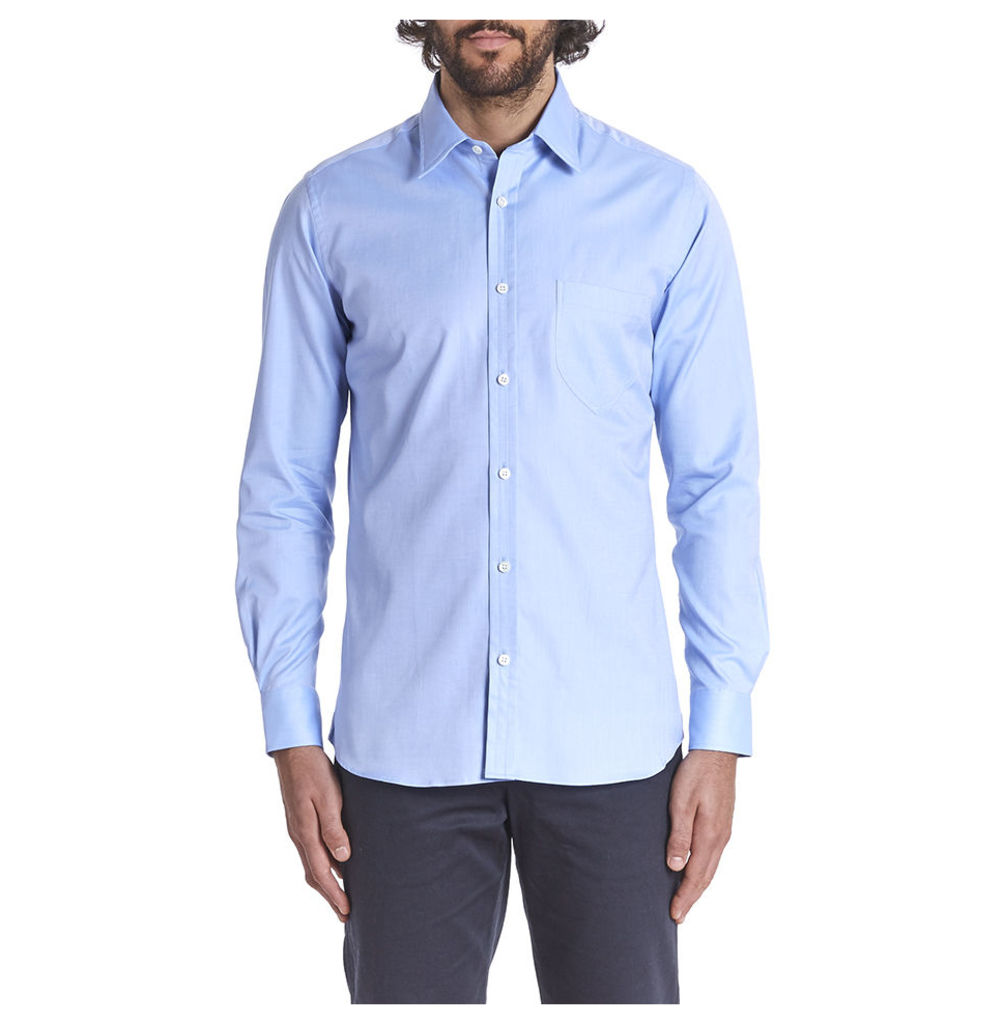 Cooper Plain Collar Shirt - Oxford Blue