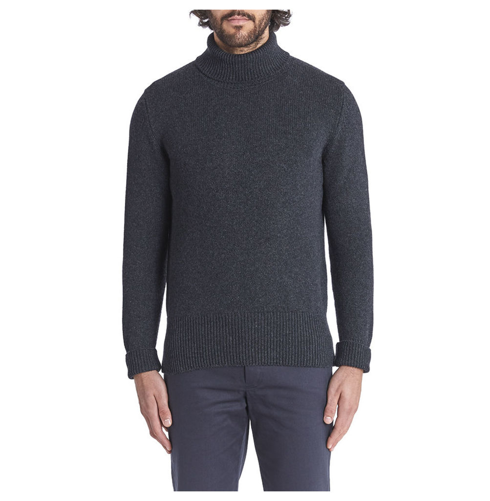 Cashmere Ribbed Submariner - Charcoal