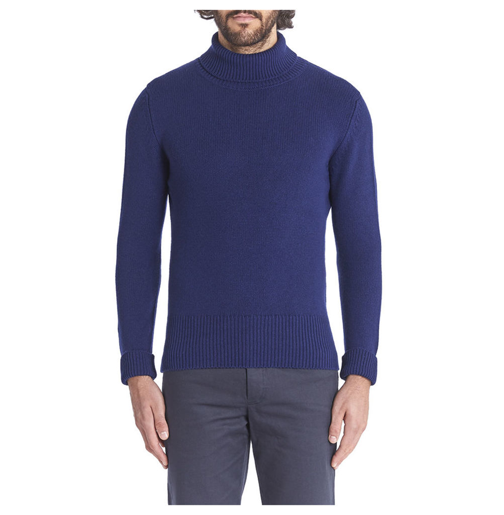 Cashmere Ribbed Submariner - Navy