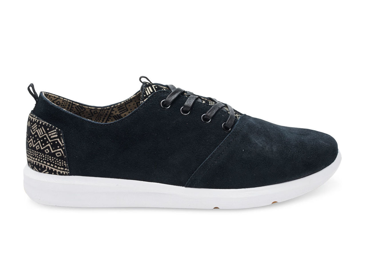 Black Suede Men's Del Rey Sneakers