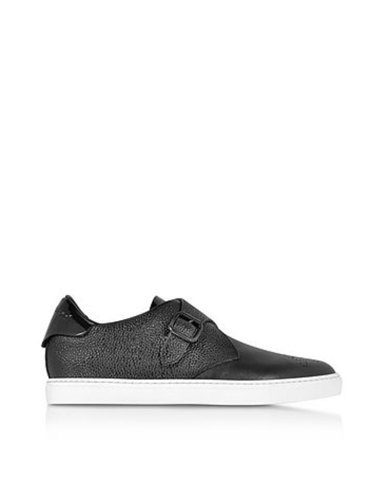 DSquared2 - Tux Black Leather Sneaker w/Buckle
