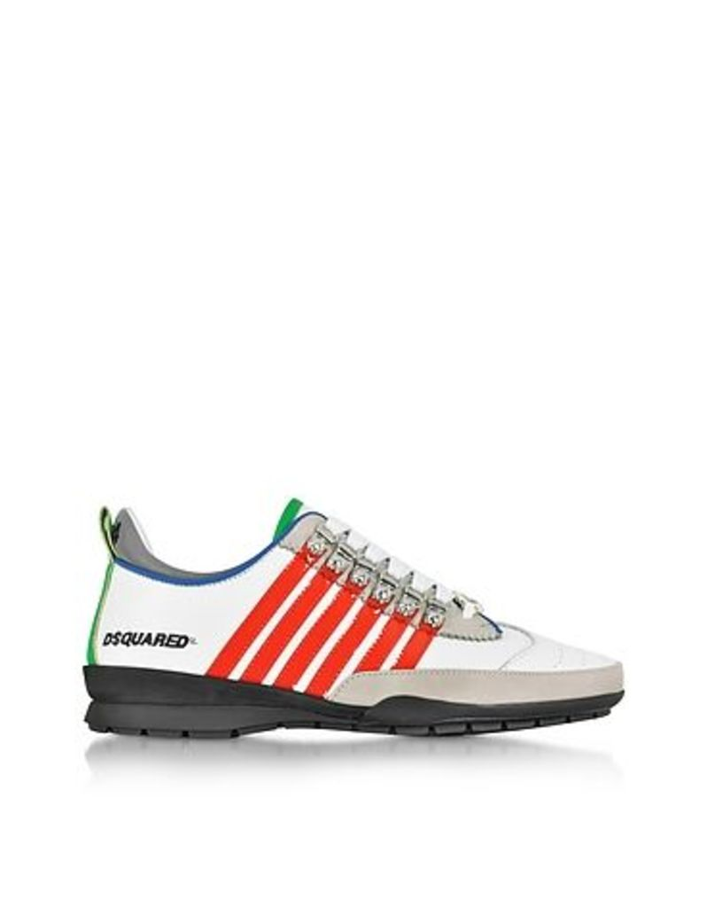 DSquared2 - White and Red Leather Sneaker