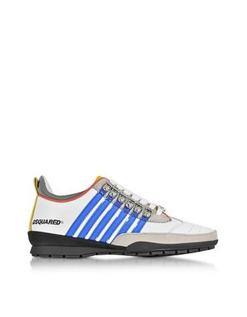 DSquared2 - White and Blue Leather Sneaker
