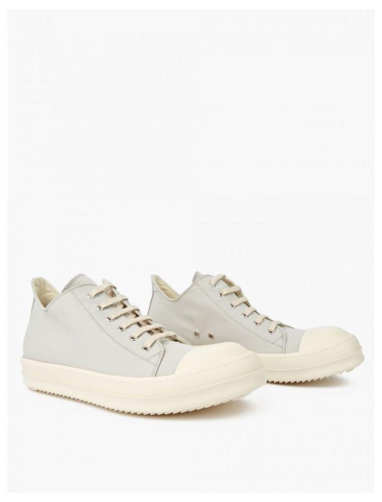 Bone Canvas Mid-Top Sneakers