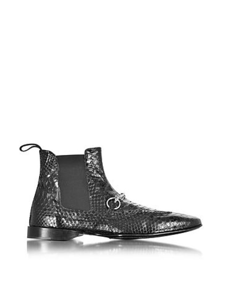 Cesare Paciotti - Black Python Leather Low Boot