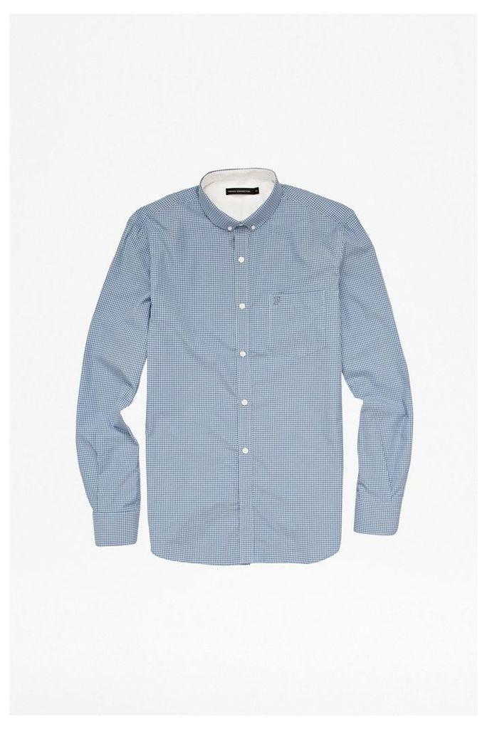 COLOURFUL COTTON GINGHAM SHIRT - Cashmere Blue