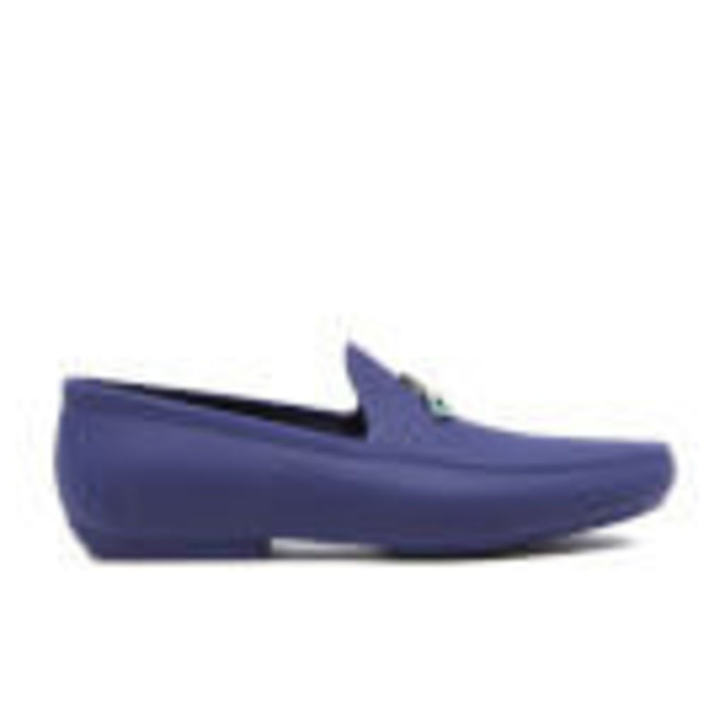 Vivienne Westwood MAN Men's Enamelled Orb Moccasin Shoes - Cobalt Blue - UK 11