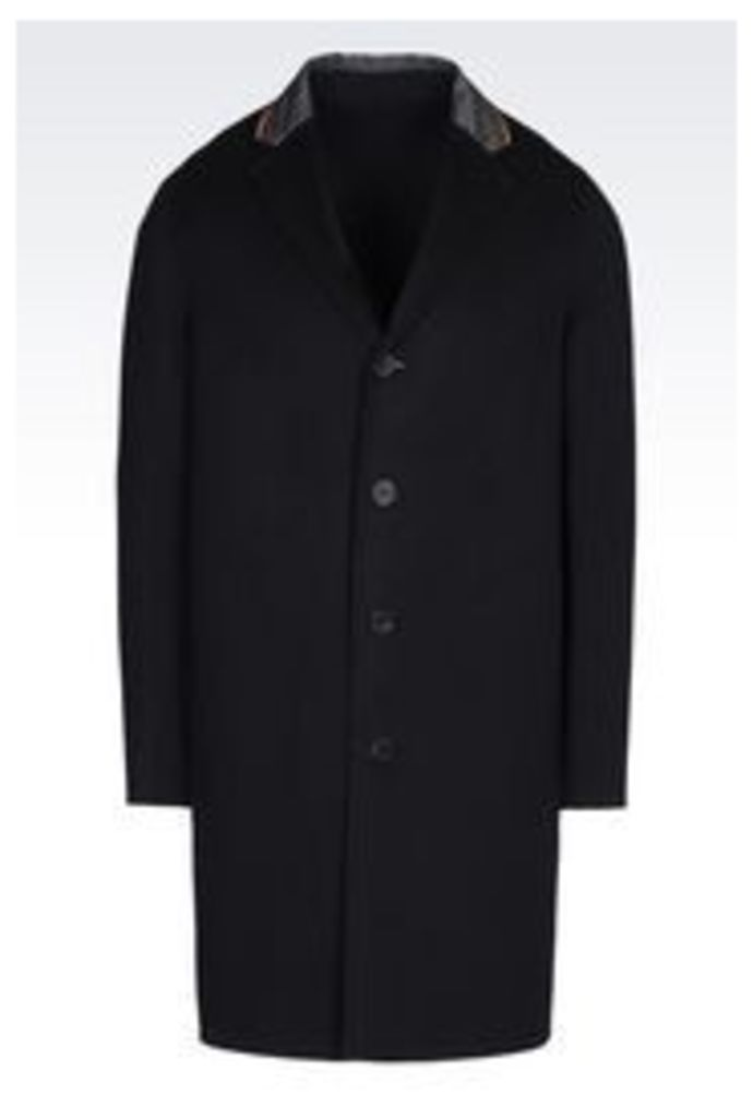 OFFICIAL STORE EMPORIO ARMANI COAT IN CASHMERE BLEND
