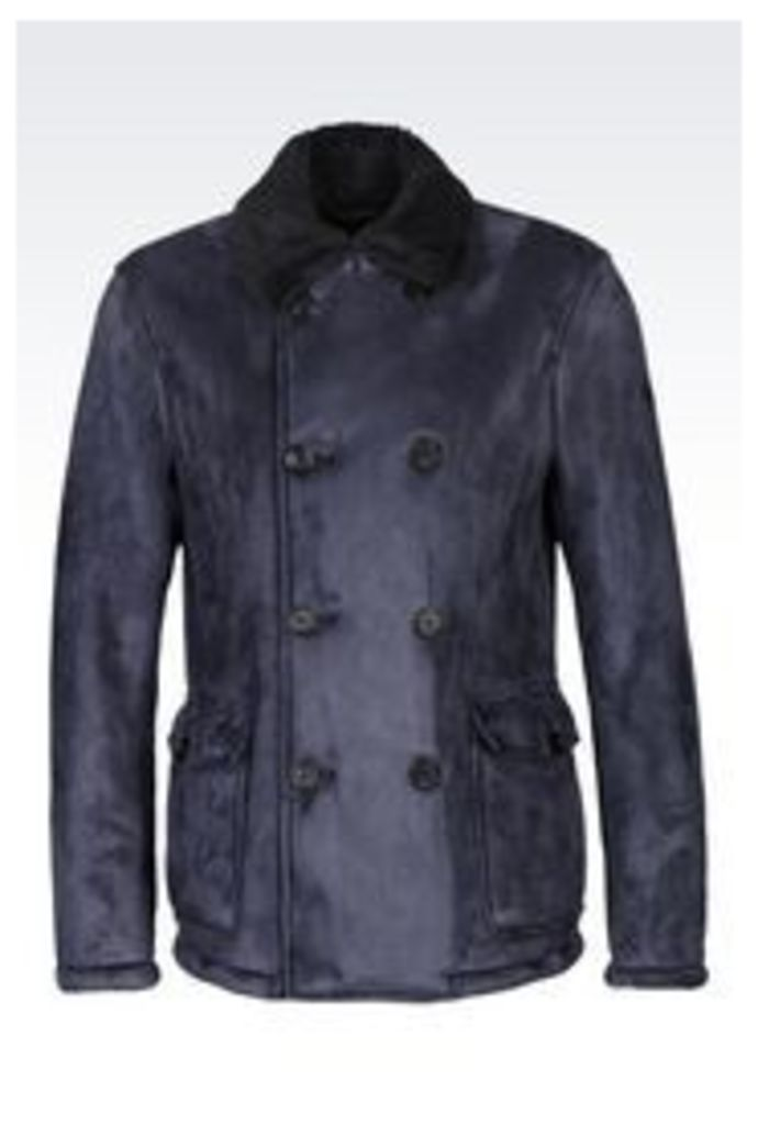 OFFICIAL STORE ARMANI JEANS DOUBLE-BREASTED BLOUSON