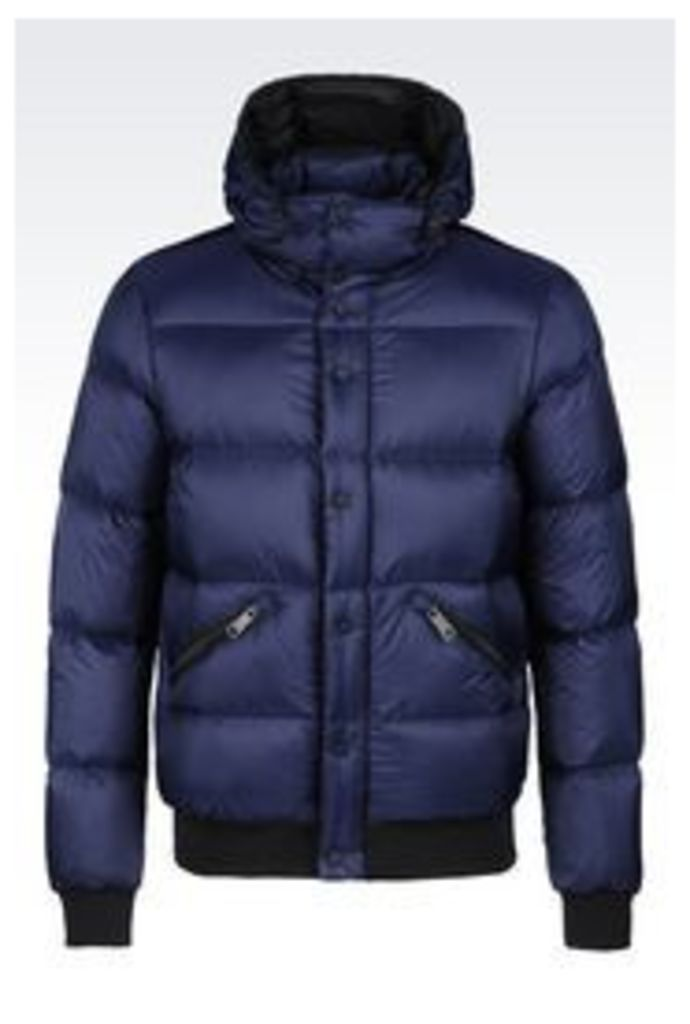 OFFICIAL STORE ARMANI JEANS DOWN JACKET IN NYLON