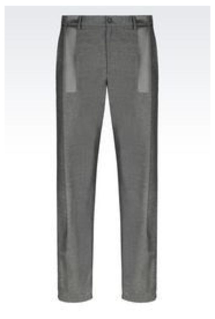 OFFICIAL STORE EMPORIO ARMANI RUNWAY TROUSERS IN WOOL BLEND