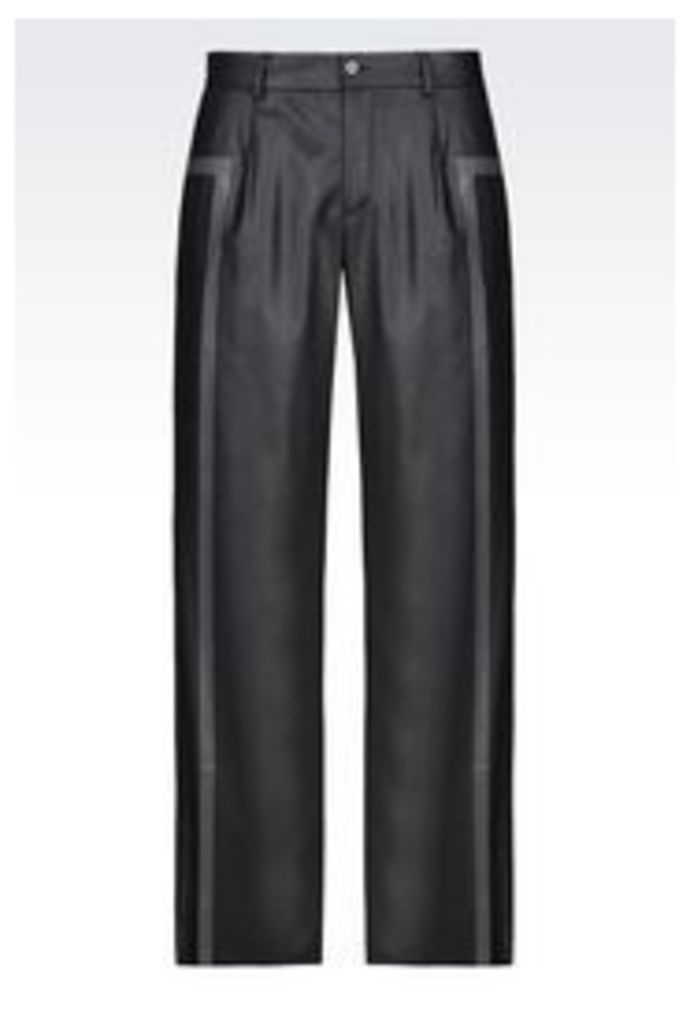 OFFICIAL STORE EMPORIO ARMANI RUNWAY TROUSERS IN STRETCH FLANNEL