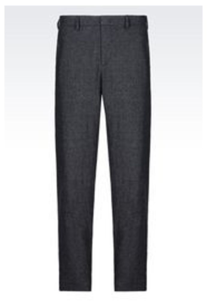 OFFICIAL STORE EMPORIO ARMANI TROUSERS IN VIRGIN WOOL