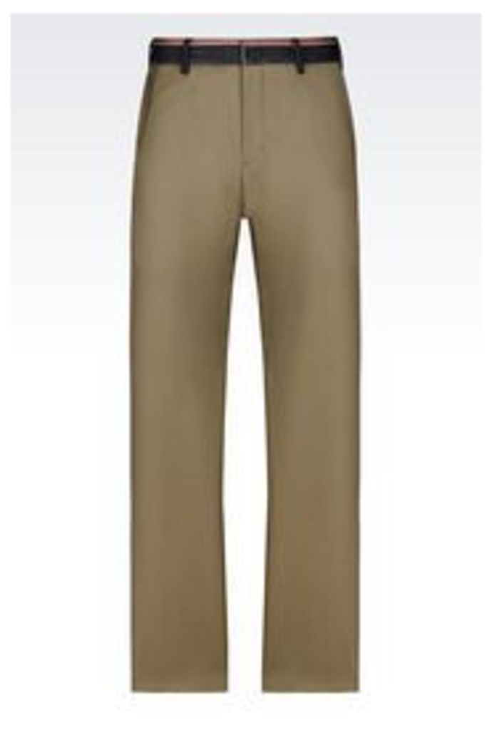 OFFICIAL STORE EMPORIO ARMANI WORSTED WOOL TROUSERS